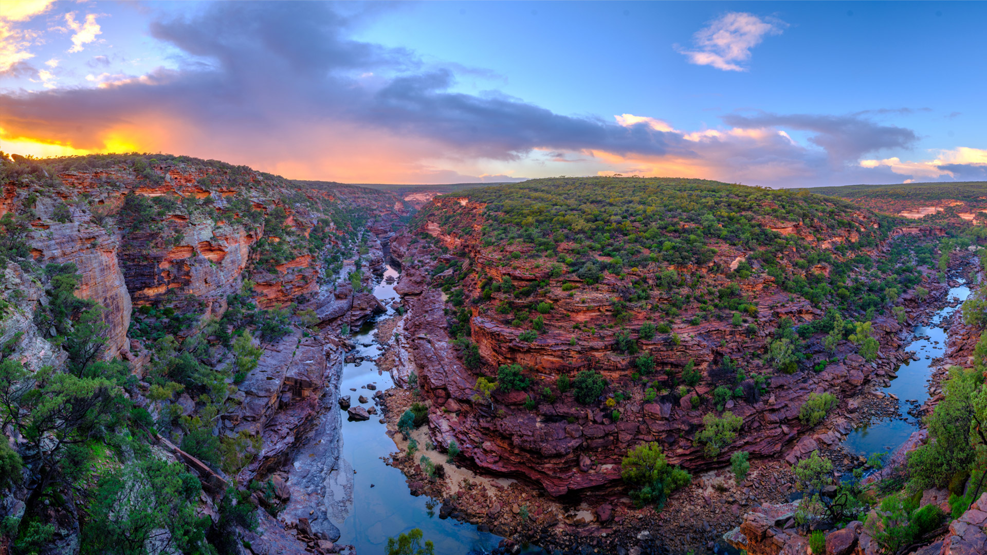 Rivers running through gorges in Kalbarri National Park